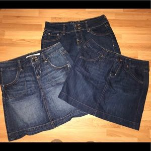 Lot of Old Navy Jean Skirts Size 2